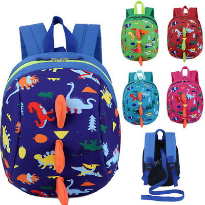 Kids Cartoon Toddler Baby Dinosaur Safety Harness Strap Bag Backpack With Reins