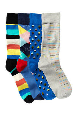 3 Pairs Of Happy Socks Combed Cotton Sock Size 10 13 Sharks Palm
