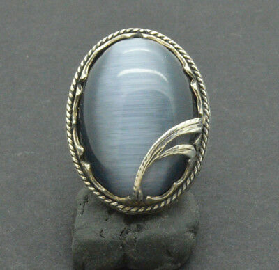 Antiquarian Silver Ring with gemstone. 20 Century 12gr
