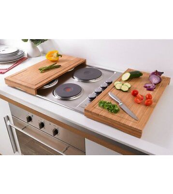Set of 2 Hob Cover Multipurpose Chopping Board Worktop Space Saver Plate Cover