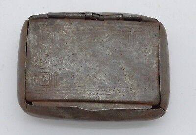 Antique box with a pattern