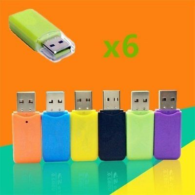 6PcsTF Card Memory Card Micro SD Card Reader USB 2.0 Support 64GB