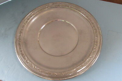 "Wallace Sterling Silver 10"" Serving Plate Fancy Border"