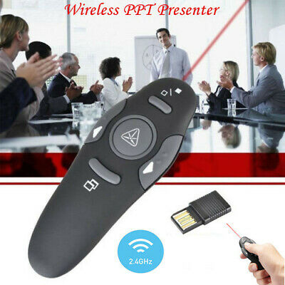 Wireless PowerPoint PPT Presenter Remote Contol Clicker Laser Pen US FAST SHIP