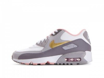 Nike Air Max 90 Leather Gs Big Kids 724821 100 White Running