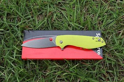 "4""G10 Handle ball bearing Folding Knife with D2 Blade Pocket Knife"