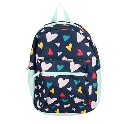 "15"" Kids Colorful Hearts Backpack Pre School Toddler Book Bag Tote Preschool"