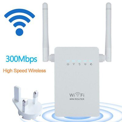 Wireless 300Mbps 802.11 AP Wifi Range Repeater Router Booster AU Plug 2 AntennGG