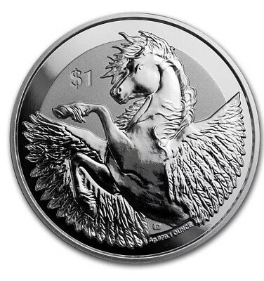 2018 1 Oz Pure .999 Silver Pegasus Coin From British Virgin Islands Uncirculated