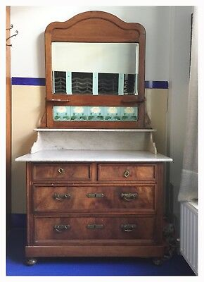 Art Nouveau Dresser | Vanities | coiffeuse with Mirror and side-Drawers
