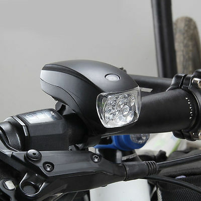 Waterproof Cycling Bike Bicycle Super Bright 5 LED Front Head Light Lamp Torch