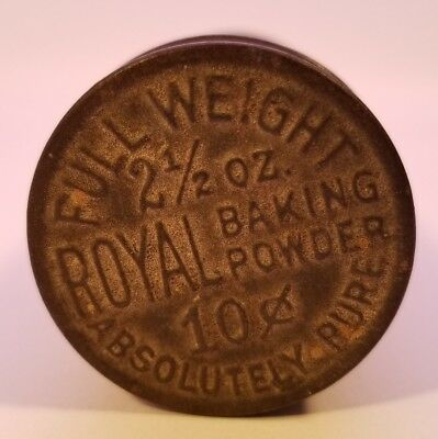 Antique Vintage ROYAL Absolutely Pure Baking Powder 2 1/2 oz Tin Embossed Lid