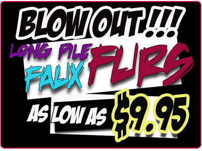 BLOW OUT Faux Fur Long Pile Fabrics Sold by the yard