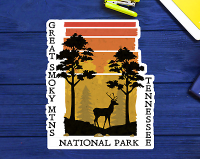"""3"""" Great Smoky Mountains National Park Tennessee Clear Sticker Decal Vinyl"""