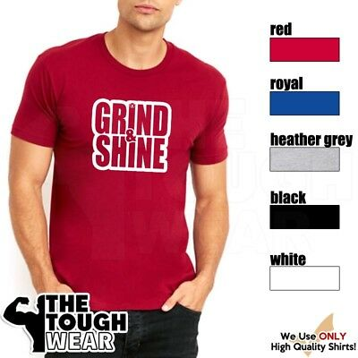 f13720b1155fa GRIND AND SHINE Gym Rabbit T Shirt 5 colors Workout Bodybuilding Fitness  D373