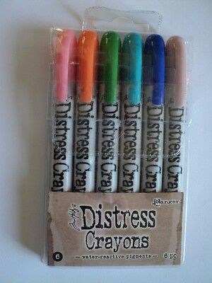 Tim Holtz Distress Crayons Set #6 Pack Of 6 Bnip  *look*