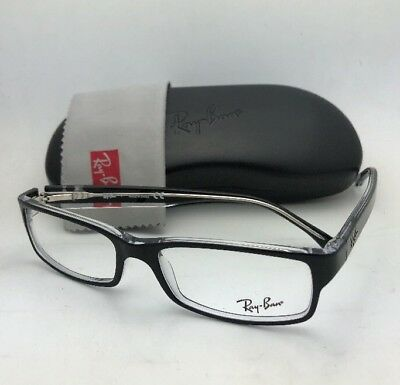 07a3ebcbca NEW RAY-BAN RX-ABLE Eyeglasses RB 5114 2034 52-16 135 Black on Clear ...
