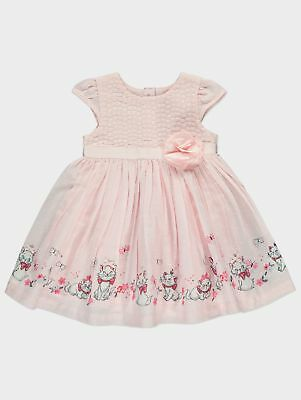 Baby Girl Disney Aristocats Pink Embroidered Dress Size Limited Stock 0-6 Months