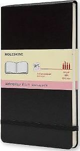 NEW Moleskine Hard Cover Black Watercolor Notebook Large
