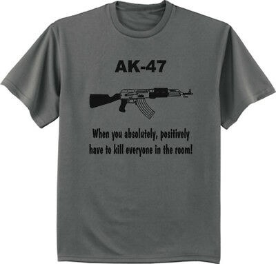 Funny DUE TO RISING COST OF AMMO.. 2nd Amendment T-Shirt AK 47 Gun Rights Tee