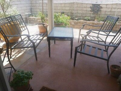 Outdoor Furniture Conversation Patio Seating Set~4 pc.with 8 NEW cushions.Garden