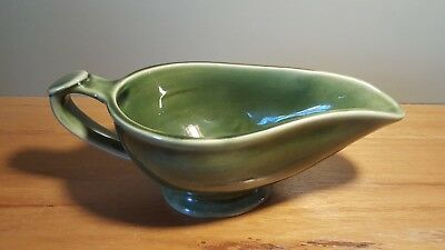 Bendigo Pottery Gravy Jug Green Glazed Large