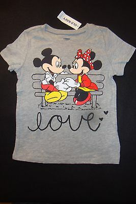 Old Navy Disney Mickey Minnie Mouse Graphic Tee Shirt Valentines