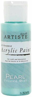 Artiste 2 oz Speciality Pearlescent Paint Pearl Frosted Mint DOA 763004