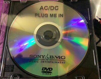 AC/DC VERY RARE PROMO Only DVD CD Plug Me In With Bonus Promo ACDC Guitar Pic