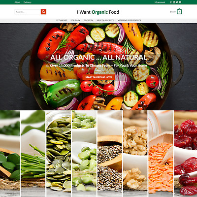 Organic Goods Online Dropship Ecommerce Website Business For Sale 11,000 Product