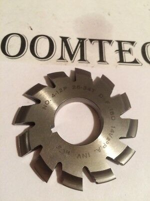"""#4 12 26-34T 14.5°PA 7/8"""" Bore Gear Cutter National Tool Machinist Hob milling"""