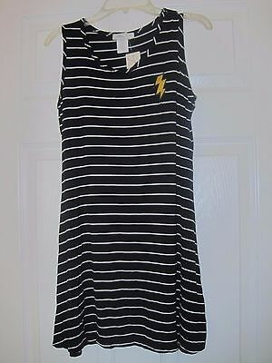 f8a56141fa NWT Pinc Premium Big Girls Sleeveless Striped Dress, Navy, Made in USA, Sz