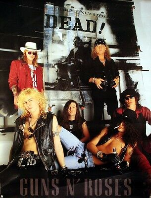 Guns N' Roses 1991 Use Your Illusion Dead Original Promotional Poster