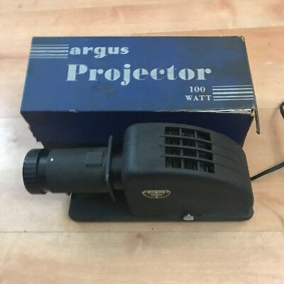 Vintage working Argus PA -100 Watt Slide Projector with Attachment