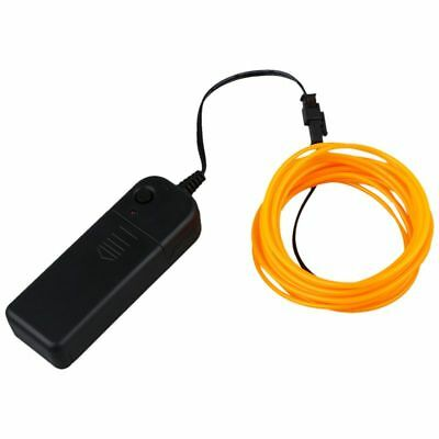 10X(3M Flexible Neon Light EL Wire Rope Tube with Controller (Yellow) F1E3)
