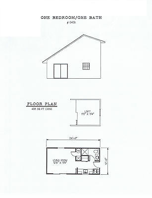 408 square foot one bedroom house plan