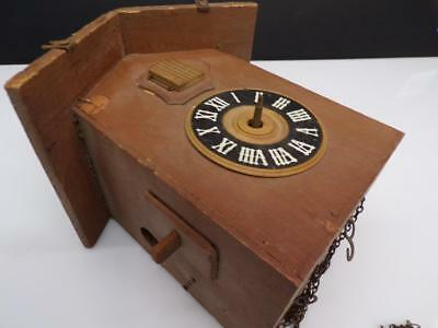 German Black Forest Cuckoo Parts Clock Case w/  Brass Regula Movement D292