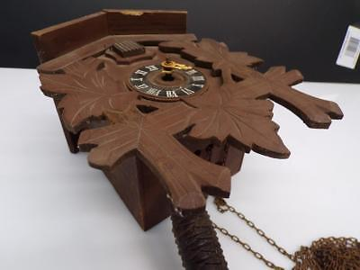 German Black Forest Cuckoo Clock Mfg. Co. Case w/ Brass Movement Parts D613