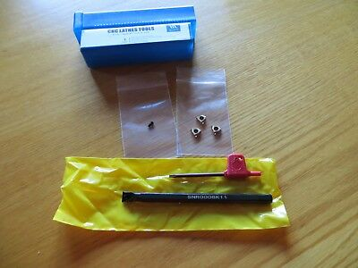 Small Internal Threading Tool, Boring Tool, with 3 Carbide 11 IR A 60 inserts