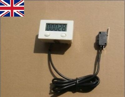 Digital 5 Digit LCD Punch Counter with micro switch with Reset pause Button