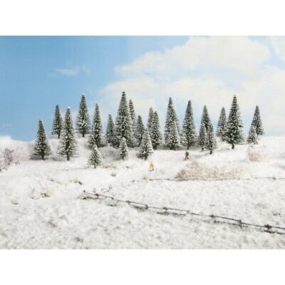 NOCH - 26828 Snow Fir Trees, 25 pieces, - 14 cm high H0,TT