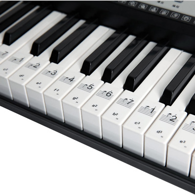 Music Keyboard or Piano Stickers 36 KEY SET Educational clear LAMINATED stickers