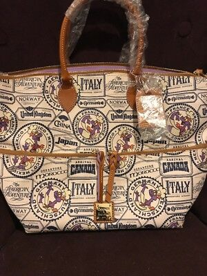 Disney Dooney & Bourke 2017 Passholder Epcot Food and Wine Tote Purse Bag NWT