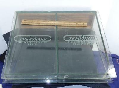 RARE Antique Wahl Eversharp Pencil Tempoint Pen Glass Display Case !