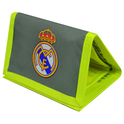 7a7ec6ae0e8 Real Madrid Wallet Crest Neon Green Coins Money Gift Official Licensed  Product