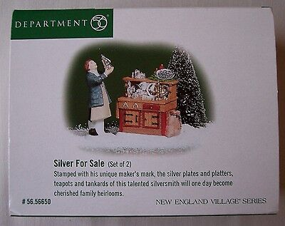 Silver for Sale (Set of 2) by Department 56 – NIB