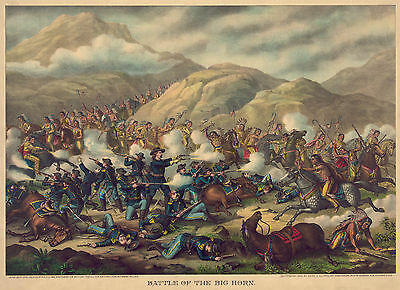 Images of Americana. Custer's Last Stand (The Little Big Horn). Fine Art Print