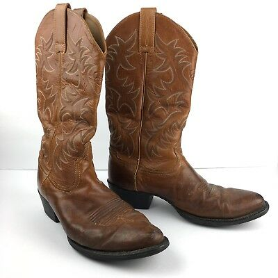 d545dca769bc27 Ariat Men Cowboy Boots Heritage Western leather round Toe 10012687 Brown Sz  9