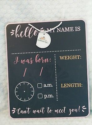 chalkboard baby girl milestone sign new with tags