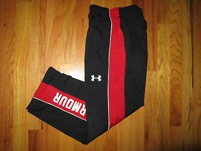 "Under Armour Loose Fit Boys Y XL X large Lined 25"" Black sweat pants w/ pockets"
